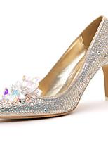 Women's Shoes Suede Stiletto Heel Heels / Comfort Heels Party & Evening / Dress / Casual Black / Beige