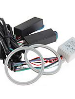 2pcs CARCHET Car 5W 81 RGB COB LED Angel Eye Ring Light Lamp Bulb 80mm DC12V