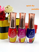 1pcs Non-toxic odour quick dry peelable Nail Polish Pregnant Available 12ml