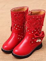 Girls' Shoes Dress / Casual Snow Boots / Comfort Boots Black / Pink / Red