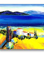100% artesanal pintura a óleo paisagem natal estilo moderno
