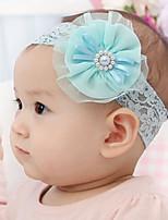 Kid's Pearl Mesh Flower Elastic Headband