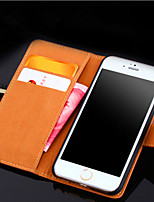 For iPhone X iPhone 8 iPhone 8 Plus iPhone 6 iPhone 6 Plus Case Cover Card Holder Wallet with Stand Flip Full Body Case Solid Color Hard