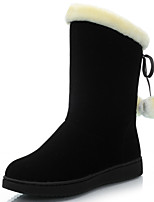 Women's Shoes Synthetic Chunky Heel Snow Boots / Fashion Boots Boots Party & Evening / Dress / Casual Black