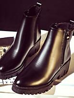 Zapatos de mujer - Tacón Bajo - Comfort - Botas - Exterior - Semicuero - Negro