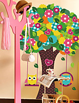 PVC Removable Children's Room Tree Owl Wall Stickers