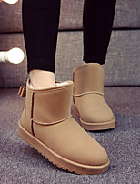 Women's Shoes Fleece Platform Snow Boots / Fashion Boots Boots / Slip-on Outdoor / Casual Black /Camel / Pink / Khaki