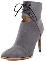 Chaussures Femme - Décontracté - Noir / Gris - Talon Aiguille - A Plateau / Confort / Bottine / Bout Pointu / Bout Fermé - Bottes -