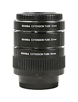 KOOKA KK-N68 Electroplating Brass Macro AF Extension Tubes Set for Nikon (12mm 20mm 36mm)SLR Cameras
