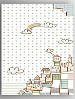 Stretched Canvas  Art Children Art Buildings  Print  One Panel