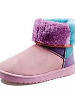 Chaussures Femme - Habillé / Décontracté / Soirée & Evénement - Marron / Rose / Rouge - Talon Plat - Bottes de Neige - Bottes - Daim