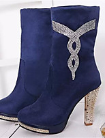Women's Shoes Stiletto Heel Pointed Toe Boots Casual Black / Blue