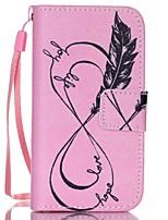 розовый узор пу кожаный материал флип карты телефон случае для iphone 4 / 4s