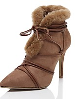 Women's Shoes  Stiletto Heel Snow Boots / Pointed Toe Boots Outdoor / Dress / Casual Black / Brown