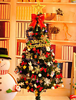90cm Plastic Christmas Tree Set With Ornament Gift For Holiday Home Decoration