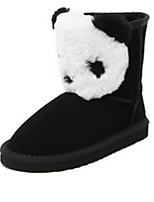 Women's Shoes  Flat Heel Round Toe Boots Casual Black
