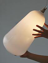 Milk white glass bottle Pendant Lamp Natural Curve B