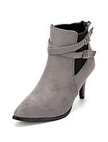 Women's Shoes Stiletto Heel Fashion Boots / Closed Toe Boots Party & Evening / Dress / Casual Black / Gray