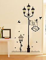 Beautiful PVC Bird Street Romantic Love Wall Stickers
