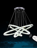 Dimmable LED Crystal Pendant Light Remote Control Chandelier Lamp Fixtures with 4 Ring D80604020 CE&UL&FCC