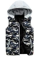Men's Sleeveless Vest , Polyester Casual Print
