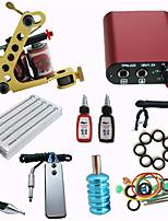 Beginner Tattoo Kit with Machine Gun/ MINI Power Supply/ 10 Needles /2 Ink/ Needle/ Tips/ Grip Pro