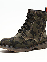 Men's Boots Spring / Summer / Fall / Winter Flats Leather Outdoor / Party & Evening / Casual Flat Heel Lace-up