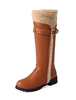 Women's Shoes Platform Round Toe / Closed Toe Boots Office & Career / Dress / Casual Black / Brown / Beige