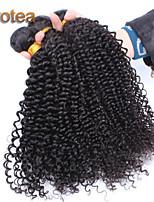 3pcs / lot brazilian jomfru hår ubehandlet jomfru hår veve kinky krøllete jomfru hår vever