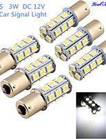 YouOKLight®6PCS 3W 260lm 18 x SMD 5050 LED White Car Signal Light / Steering Lamp - (DC12V)