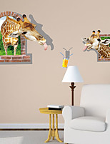 3D Wall Stickers Wall Decals, Giraffe PVC Wall Stickers