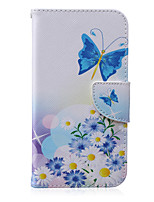 Butterfly Pattern PU Leather Material Flip Card  for Samsung Galaxy Grand Prime/ Core Prime/J1 Ace/J1/J2/J3/J5/J7
