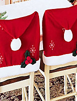 Big Santa Hat Chair Cover for Christmas Dinner Table Party Decoration