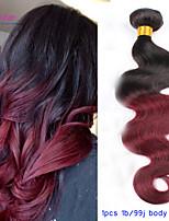 ombre peruano ombre cabelo cabelo cor de vinho corpo onda virgem onduladas extensões de cabelo ombre vinho tinto 100% extensões de cabelo