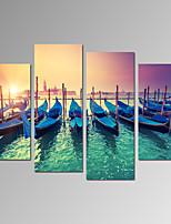 Tempo libero / Paesaggio / Fotografia / Patriotico / Moderno / Romantico / Viaggi Print Canvas Quattro Pannelli Pronto da appendere ,