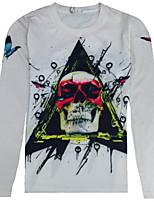 Masculino Camiseta Casual / Esporte Estampado Tricô Manga Comprida Masculino