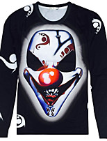 CliffWalker Man 3 d digital printing animal motifs round neck long sleeve T-shirt