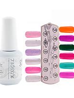 YeManNvYou®1PCS Sequins UV Color Gel Nail Polish No.145-156 Soak-off(15ml,Assorted Colors)