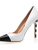 Women's Shoes Leatherette Stiletto Heel Heels Heels Office & Career / Party & Evening / Dress White