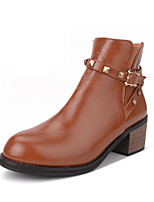Women's Shoes Leather Chunky Heel Cowboy / Western Boots / Snow Boots / Riding Bootie / Combat BootsOutdoor / Office