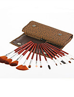 Monsia® Classic Brown Makeup Brushes Set 15Pcs with Bag
