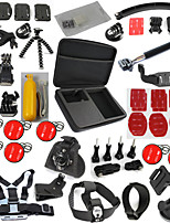 53 in 1 Gopro Accessories Set With L Size Case Monopod Floating Chest Head Strap For Xiaomi SJCAM Sj4000 Hero 4