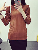 Women's Solid Red / White / Black / Brown / Green / Gray Pullover , Sexy / Party / Work Long Sleeve