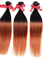 cabelo liso malaysia ombre virgem tece duas tom T1b / 30 reto de seda tecelagens de cabelo humano 1pcs tramas do cabelo 50g / pcs