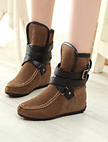 Women's Shoes Leatherette Platform Fashion Boots / Closed Toe Boots Outdoor / Office & Career/ Dress / CasualBlack /
