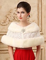 Lace Sleeveless Wedding Wraps Imitation Cashmere Capelets/Wraps/Shawls with Crystals