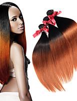 evet muito 1pc extensões de cabelo ombre 7a brasileiro do cabelo virgem reta pacotes de tecer cabelo humano brasileiro # 1BT # 30