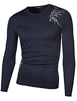 Men's Fashion Print Sport Breathable Long-Sleeve T-Shirt
