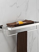 304 Stainless Steel Hand Polished Finish Double Towel Rack