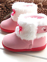 Baby Shoes Outdoor / Casual Calf Hair / Leatherette Boots Pink